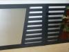 portail aluminium design inox